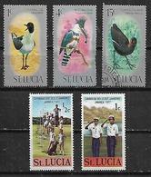 1975-7 Santa Lucia Fauna Aves Pajaros-scout 5v. - St.Lucia (1979-...)