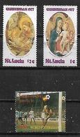 1977-82 Santa Lucia Navidadd 77-futbol España 82 3v. - St.Lucia (1979-...)
