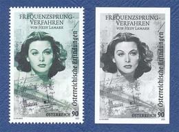 AUTRICHE Hedy Lamarr. Frequency Hopping Spread Spectrum Neuf**. Timbre + Vignette. Cinéma, Film, Movie. - Cinema
