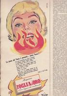 (pagine-pages)PUBBLICITA' FOGLIA D'ORO  Epoca1958/416. - Books, Magazines, Comics