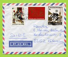 Ruanda 1972  To Switzerland - Rwanda