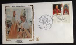 Venezuela, Uncirculated FDC, « POPE John Paul II», « Visit To Venezuela », « Caracas », 1985 - Venezuela
