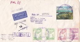 PARAGUAY ENVELOPPE CIRCULEE DE ASUNCION A FREIBURG, ALLEMAGNE 1988 RECOMMANDE PAR AVION -LILHU - Paraguay
