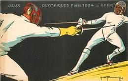 Lot De 6 Cartes Jeux Olympiques 1924 Lutte Disque épée Boxe Course De Vitesse Football - Jeux Olympiques