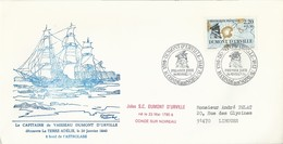Cachet Commémoratif Premier Jour Dumont D'Urville - Timbre N°2522 - 20/02/1988 - Esploratori E Celebrità Polari