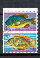 Timbre Oblitéré - Guinée Equatoriale / Guinéa - Poissons / Fish - Paire - Lepomis Megalotis, Etroplus Maculatus - (1) - Equatoriaal Guinea