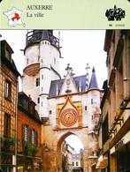 AUXERRE  - La Ville - Photo  Horloge - FICHE GEOGRAPHIQUE - Ed. Larousse-Laffont - Clocks