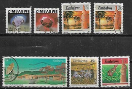 1980-96 Zimbabwe Minerales-paisajes 7v. - Zimbabwe (1980-...)