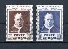 VATICANO :  30° Anniversario Dei Patti Lateranensi  -  S. Cpl. 2 Val. Usati   Del   25.05.1959 - Vatican