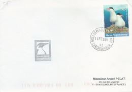 Lettre De La Base Scott - Timbre Ross N°55 - Cachet Ross Dependency Agency Du 11/02/1991 - Dependencia Ross (Nueva Zelanda)