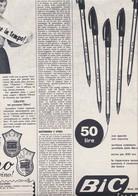 (pagine-pages)PUBBLICITA' BIC   Oggi1957/10. - Books, Magazines, Comics