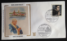 Germany, Uncirculated FDC, « POPE John Paul II», « Visit To Germany », « Mainz », 1980 - FDC: Buste