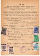 1957 YUGOSLAVIA,BOSNIA,BOS. GRADISKA,NOO BOS. GRADISKA AND NOO GOR. PODGRADCI MUNICIPALITY STAMPS,3 STATE REVENUE STAMPS - Covers & Documents