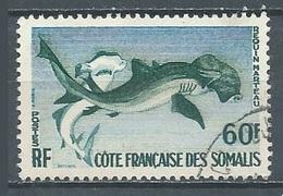 Cote Des Somalis YT N°302 Requin-marteau Oblitéré ° - French Somali Coast (1894-1967)