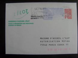 17996- PAP Réponse Luquet L'Ilôt, Validité 30/06/08, Agrément 0202057, Pas Courant En Obl - Postal Stamped Stationery