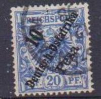 GERMANIA COLONIE 1896  AFRICA ORIENTALE TEDESCA FRANCOBOLLI DI GERMANIA DEL 1889 YVERT.9 USATO VF - Colony: German East Africa