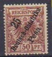 GERMANIA COLONIE 1896 AFRICA ORIENTALE TEDESCA FRANCOBOLLI DI GERMANIA DEL 1889 YVERT.10  MLH VF - Colony: German East Africa