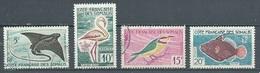 Cote Des Somalis YT N°296-297-298-299 Poissons Et Oiseaux Oblitéré ° - French Somali Coast (1894-1967)
