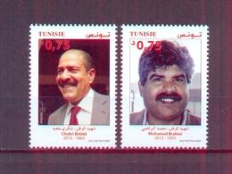Tunisia/Tunisie 2020 - Motherland And Republic Martyrs : Chokri Belaïd - Mohamed Brahmi - Stamps 2v - MNH** - Tunesië (1956-...)