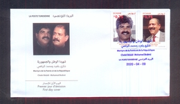 Tunisia/Tunisie 2020 - Motherland And Republic Martyrs : Chokri Belaïd - Mohamed Brahmi - FDC - Excellent Quality - Tunesië (1956-...)