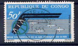 """CONGO - A13° - ANNIVERSAIRE DE LA Cie """"AIR AFRIQUE"""" - Oblitérés"""