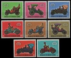 Malediven 1970 - Mi-Nr. 319-326 A ** - MNH - Autos / Cars - Maldives (1965-...)