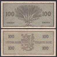 FINNLAND - FINLAND 100 MARKKA 1955 PICK 91a VF (3)   (24970 - Finland
