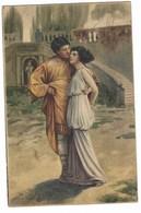 CL152 -  COPPIA INNAMORATI ROMANI ROMA ANTICA ROMA 1920 - Coppie