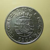 Portuguese S. Tomé E Príncipe 5 Escudos 1939 Silver - Portugal