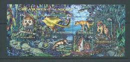 Australia 1997 Creatures Of The Night Miniature Sheet MNH - 1990-99 Elizabeth II