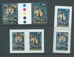 Australia 1997 Creatures Of The Night Gutter Pair, Booklet Pair & Peel & Stick Pair MNH - 1990-99 Elizabeth II