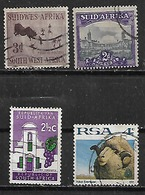 1950-72 Sudafrica Flora Y Fauna Uvas Carnero 4v. - África Del Sur (1961-...)