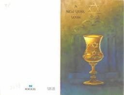 JUDAICA - HAPPY NEW YEAR - DEUX FEUILLETS - Religion & Esotericism
