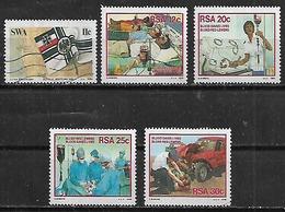 1984-6 Sudafrica Medicina Primeros Auxilios 5v. - África Del Sur (1961-...)