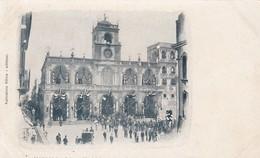 MARSALA-TRAPANI-PALAZZO MUNICIPIO CURATO A FESTA-CARTOLINA NON  VIAGGIATA -ANNO 1900-1904 - Trapani