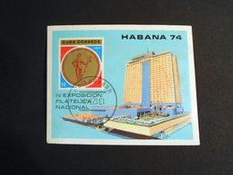 Cuba 1974 The 4th National Stamp Exhibition, Havana - Cuba