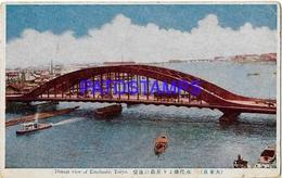134655 JAPAN TOKYO DISTANT VIEW OF EITAIBASHI & SHIP POSTAL POSTCARD - Non Classés