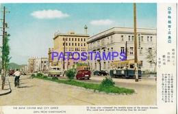 134667 JAPAN KAMIYAMACHI THE BANK CENTER AND CITY OFFICE CAR & TRAMWAY POSTAL POSTCARD - Non Classés