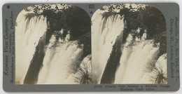 Africa Zambia Zimbabwe ~ VICTORIA FALLS ~ Stereoview 20742 825a - Stereoscopio