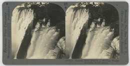 Africa Zambia Zimbabwe ~ VICTORIA FALLS ~ Stereoview 20742 825b - Stereoscopio
