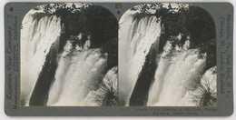 Africa Zambia Zimbabwe ~ VICTORIA FALLS ~ Stereoview 20742 825c - Stereoscopio