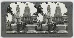 South Africa ~ DURBAN Town Hall & WW I Memorial Stereoview 33761 837bx NEAR MINT - Stereoscopio