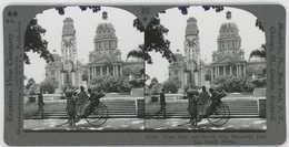 South Africa ~ DURBAN Town Hall & WW I Memorial Stereoview 33761 837cx NEAR MINT - Stereoscopio