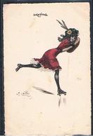 "B111 ART DECO A/s NAILLOD ""SKATING"" PATINS à ROULETTES FEMME MODE CHAPEAU - Naillod"