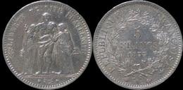 France 5 Francs 1877A- Hercules - France