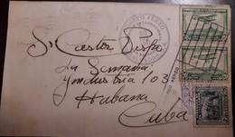 O) 1931 EL SALVADOR, CONSPIRACY OF 1811 5c, MAIL PLANE OVER SAN SALVADOR 20c, TO CARIBE, XF - Salvador