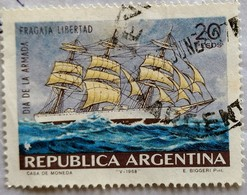 128. ARGENTINA 1968  USED STAMP SHIPS - Usati