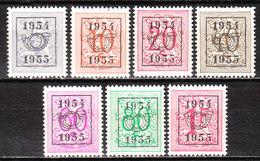 PRE645/51**  Chiffre Sur Lion - Année 1954 - Série Complète - MNH** - LOOK!!!! - Typo Precancels 1951-80 (Figure On Lion)