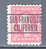 U.S. 425  Perf  10  Single Line Wmk.     (o)   CALIF.   1913-15 Issue - Etats-Unis