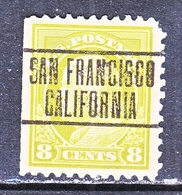 U.S. 508  Perf  10  Single Line Wmk.     (o)   CALIF.   1913-15 Issue - Etats-Unis